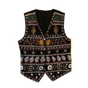 Embroidered Floral Vest